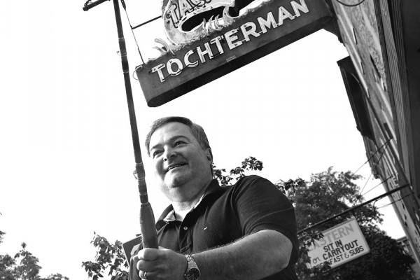 Tony Tochterman outside his bait and tackle shop.Photography by David Colwell