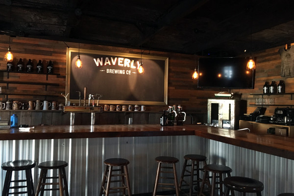 The tap room at Waverly Brewing Co., opening mid-November in Woodberry.Photography by Jess Mayhugh
