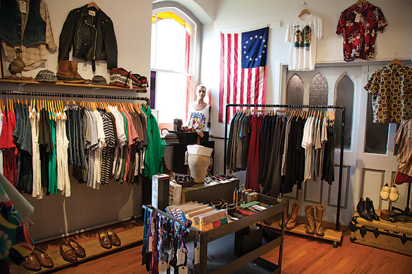 Racks of new and vintage clothing at Hunting GroundPhotography by Sean Scheidt