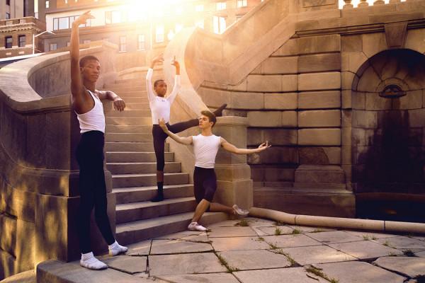 From left, Devonté Tasker, Keon Wagstaff, and Cameron Pelton.Photography by Sean Scheidt