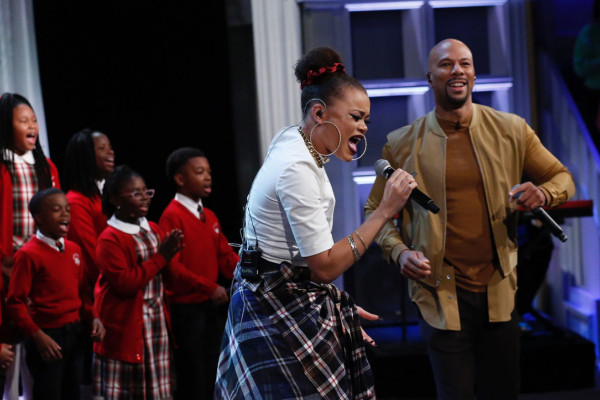 Cardinal Shehan School Choir performing with Andra Day and Common.Instagram