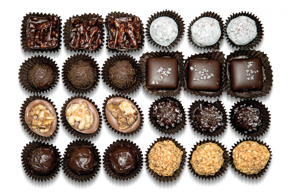Assorted truffles, Glarus Chocolatier Photography by Christopher Myers