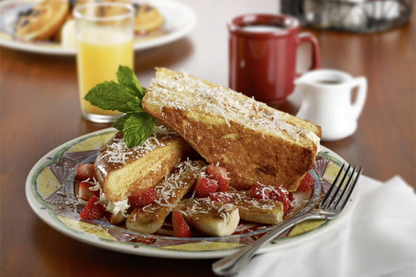 The coconut cream stuffed French toast.Miss Shirley's Cafe