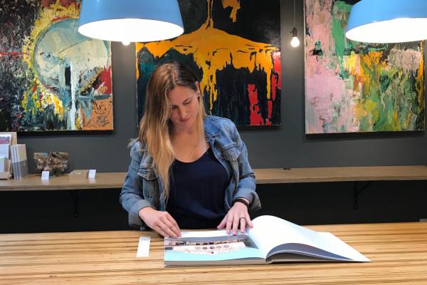 Megan Elcrat at Co_Lab Books.Lauren LaRocca