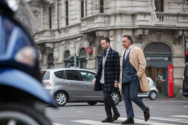 Brian Sacawa, left, of He Spoke Style and his fasion idol Giampaolo Alliata.Courtesy of He Spoke Style
