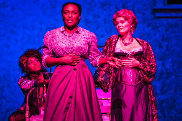 Left to right: Jade Wheeler, Dawn Ursula and Beth Hylton in Everyman Theatre's Intimate Apparel. ClintonBPhotography