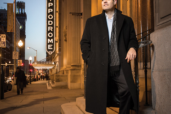 Jeff Daniel, outside the theater, the Bromo Seltzer 