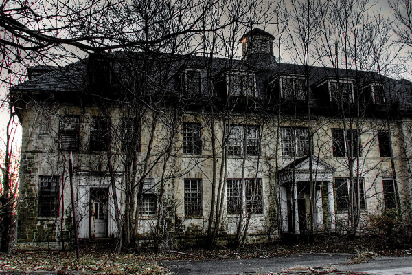 Mangled wheelchairs and ghostly sounds spook visitors to abandoned Rosewood asylum.Sue Tatterson