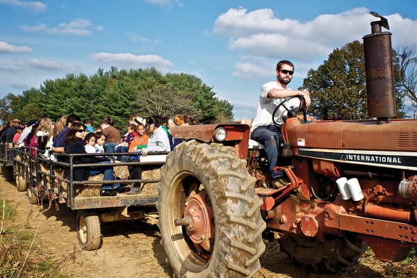 Sharp's at Waterford Farm has it all on tap, from hayrides to pick-your-own pumpkins. Then, check out the country store, farm animals, corn and cotton maze, and scarecrow-making.Photo by Cory Donovan