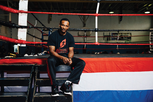 Coach Calvin Ford at the Upton Boxing Center in West Baltimore.Photography by Brian Schneider