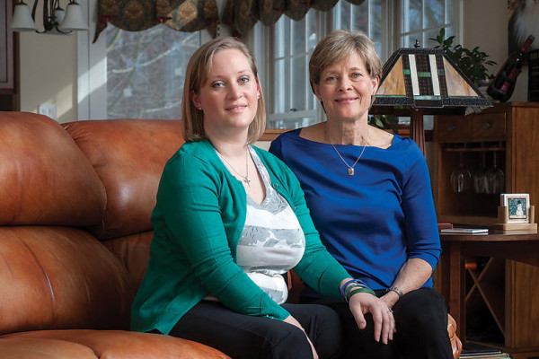 Erika Brannock has moved in with mom Carol Downing as she heals.Photography by David Colwell