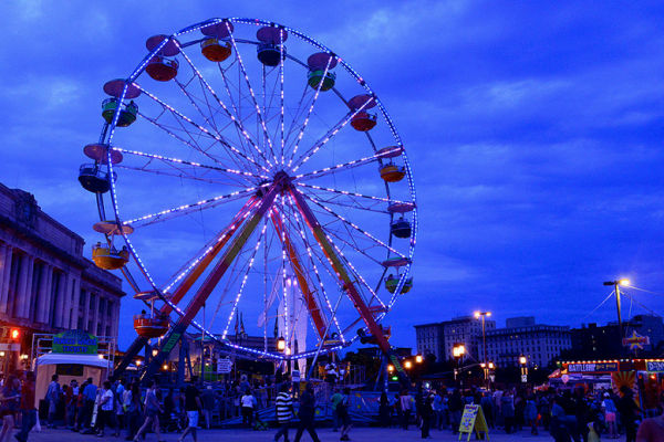 The ferris wheel outside Penn Station during Artscape.Flickr / Creative Commons