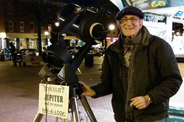 Herman Heyn, the street corner astronomer.Courtesy of WYPR