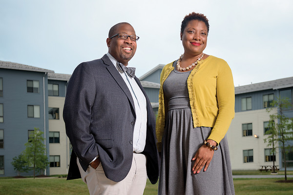 Head of school Jon Tucker and student director Tiffany Evans.Photography by Mike Morgan