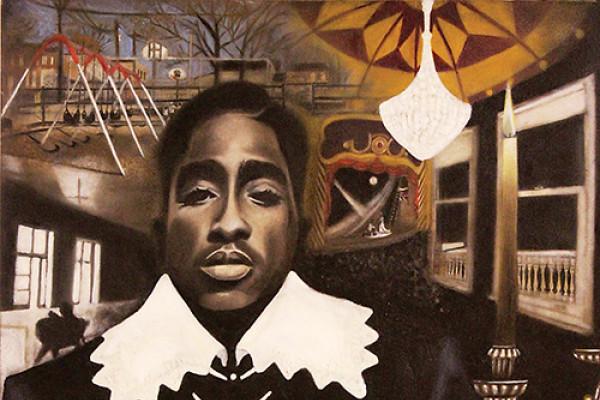Shakurspeare 30 x 40 oil on canvas.Darrin Keith Bastfield
