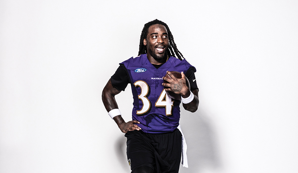 Ravens running back Alex Collins steps into his role as the team s next  rushing star. e8755fd3bc64