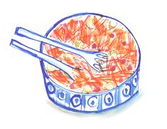 carrot salad illustration
