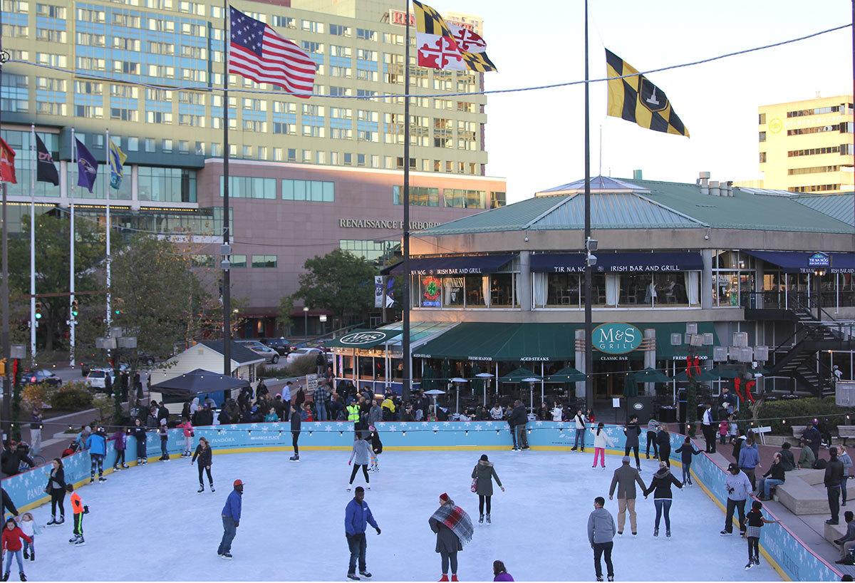 ice rink returns to baltimore u0027s inner harbor